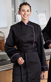85f72523b6 Gyártó/forgalmazó: EGOCHEF Fekete női paszpolos szakácskabát